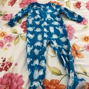 Carters footed fleece pajama